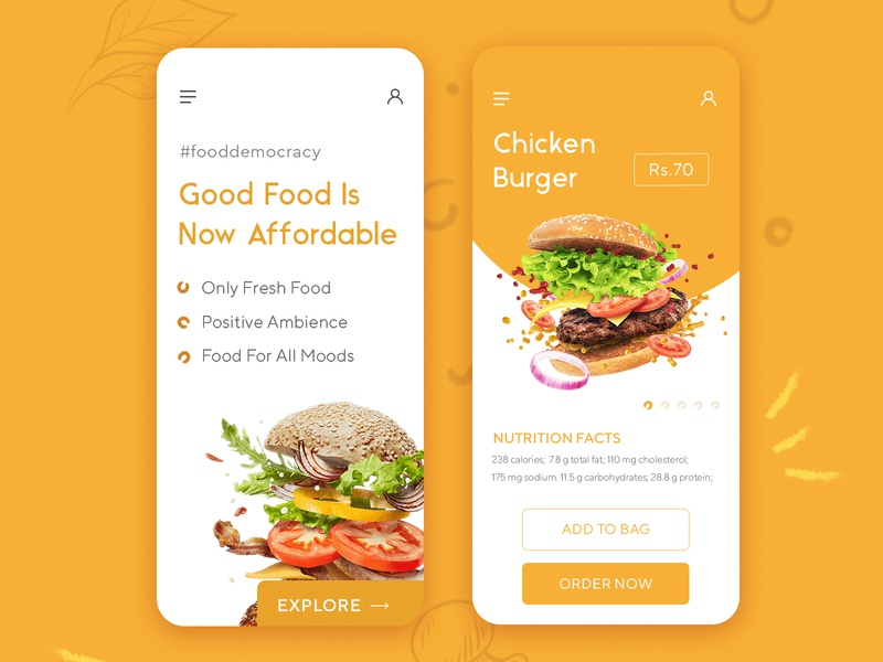 Food App Interface