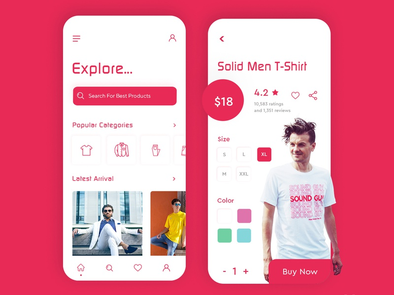 Clothing App Interface