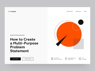 Exploration / Daily UI daily ui dailyui abstraction abstract red simple white masterclass landing page landingpage minimalism