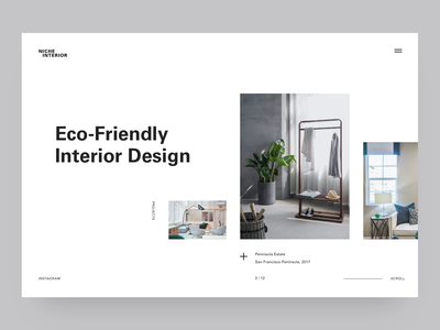 Exploration / Daily UI animation motion clean photo interior agency daily ui white ui design minimalistic concept minimalism landing page dailyui