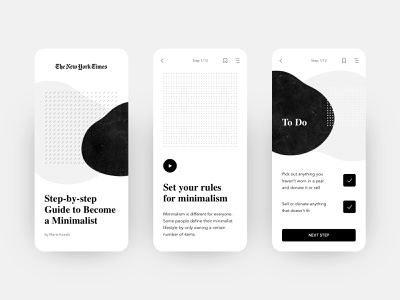Exploration / Daily UI gridandcolor geometry simple daily ui dailyui concept uiux ui modern thenewyorktimes minimalistic minimalism white black  white monochrome abstraction mobile design mobile app mobile