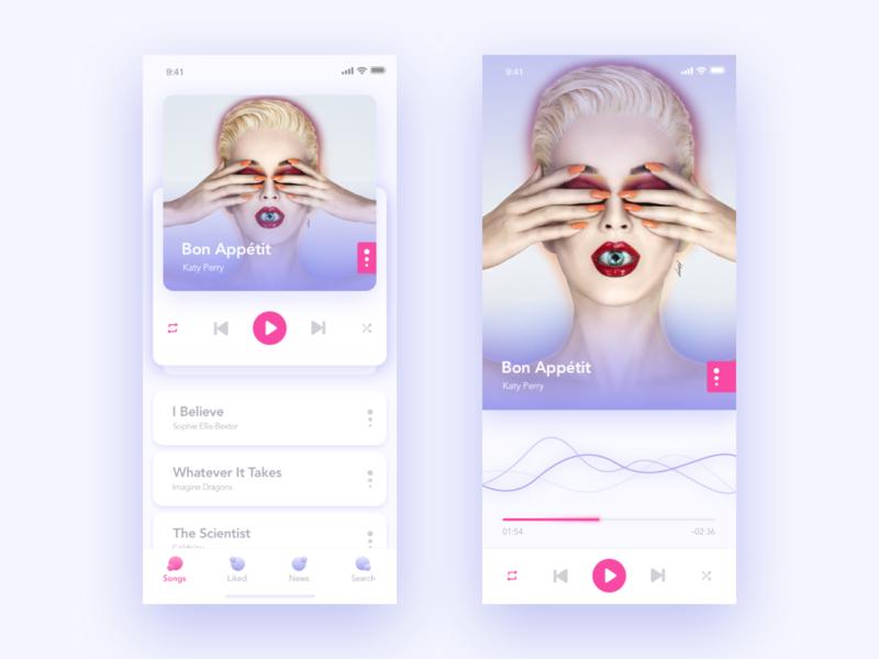 Music player ux sketch player music ios app design ui app