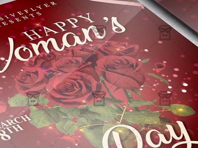 Happy Woman's Day Template - Flyer PSD + Instagram Ready Size