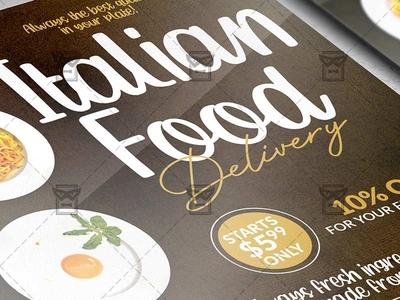 Italian Food Delivery Template - Flyer PSD + Instagram Ready Siz