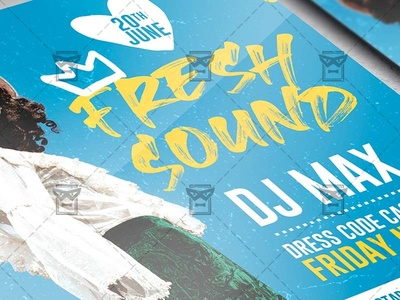 Fresh Sound - Flyer PSD Template music show flyer