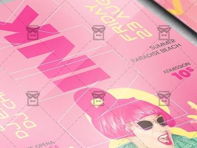 Pink Affair - Flyer PSD Template pink psd