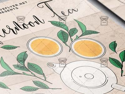 Afternoon Tea - Flyer PSD Template tea flyer tea flyer
