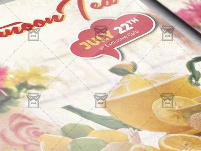 Sundays Afternoon Tea - Flyer PSD Template tea flyer