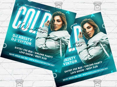 Cold Weather - Flyer PSD Template winter season winter kids flyer winter flyer winter dj party winter camp flyer winter battle winter bash flyer winter cold weather cold night