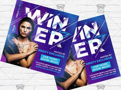 Winter - Flyer PSD Template winter season winter kids flyer winter flyer winter dj party winter camp flyer winter battle winter bash flyer winter cold weather cold night