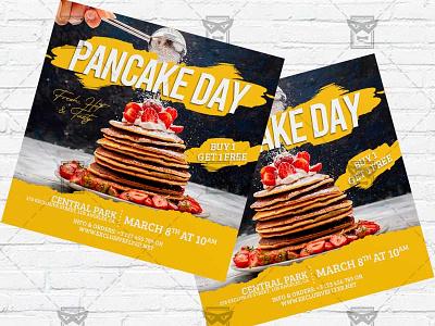 Pancake Day - Flyer PSD Template pancakes event pancakes day celebration pancake flyer pancake day maslenitsa flyer maslenitsa day instagram flyer facebook flyer