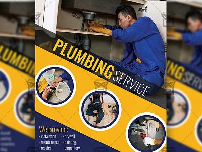Plumbing Service - Flyer PSD Template plumbing service plumbing flyer plumber service plumber flyer handyman template handyman service flyer handyman service handyman flyer design handyman flyer