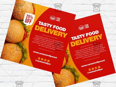 Food Delivery - Flyer PSD Template pizzeria flyer pizza flyer pizza delivery food flyer food delivery template food fastfood template fastfood flyer delivery flyer delivery burger flyer