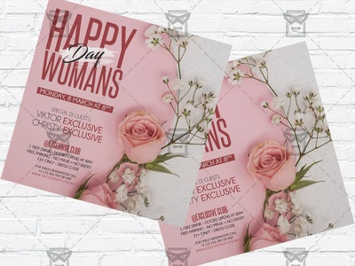 Happy International Womans Day - Flyer PSD Template womans day flyer psd womans day flyer womans day celebration ladies party international womans day instagram flyer design girls night out 8 march flyer 8 march celebration 8 march