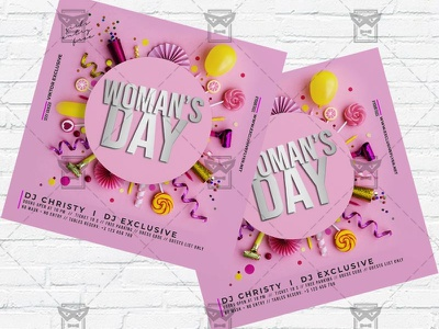 Woman International Day- Flyer PSD Template womans day flyer psd womans day flyer womans day celebration ladies party international womans day instagram flyer design girls night out 8 march flyer 8 march celebration 8 march