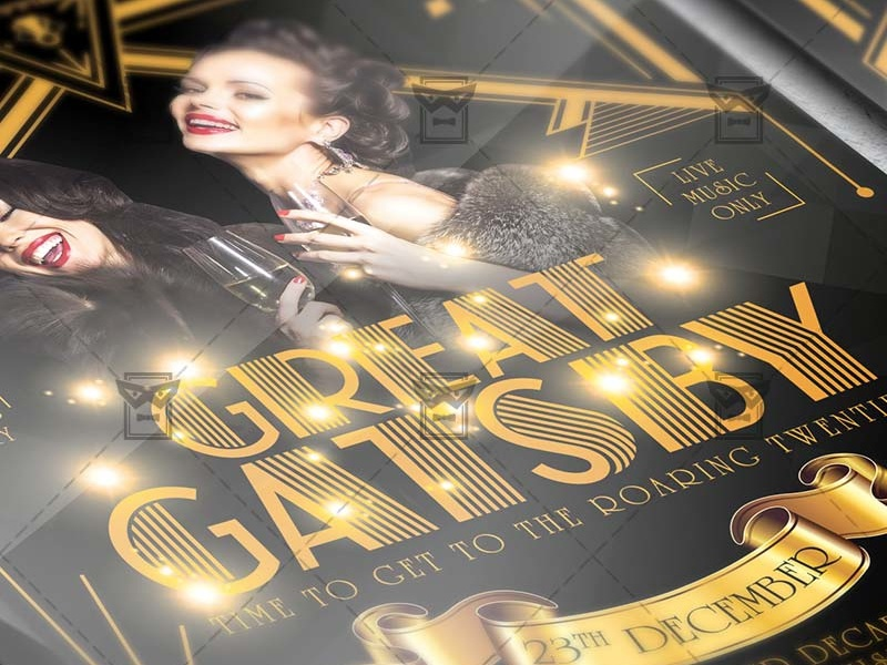 great gatsby night club a5 flyer template by exclusive flyer