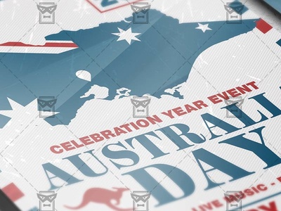 Australia Day Celebration - Seasonal A5 Flyer Template