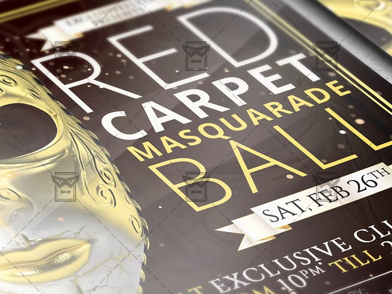 masquerade ball premium flyer template 2