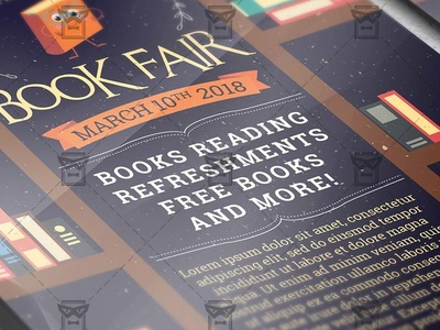 Book Fair Community A5 Flyer Template By Exclusive Flyer Dribbble
