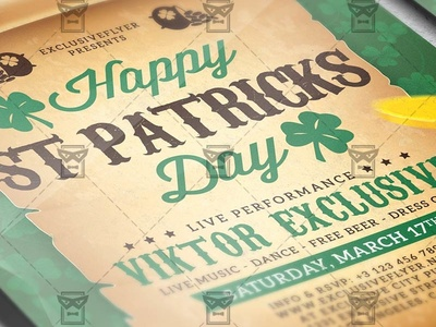 Patricks Day Celebration - Seasonal A5 Flyer Template