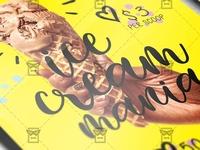 Ice Cream Mania - Food A5 Flyer Template