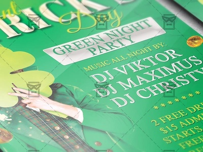 Happy St. Patricks Day - Seasonal A5 Flyer Template