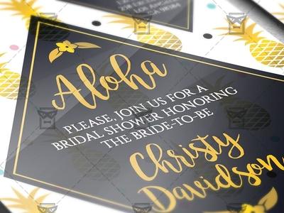 Bridal Shower - Invitation A5 Card Template