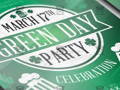 Green Day Party - Seasonal A5 Flyer Template