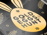 Gold Eggs Hunt - Seasonal A5 Flyer Template