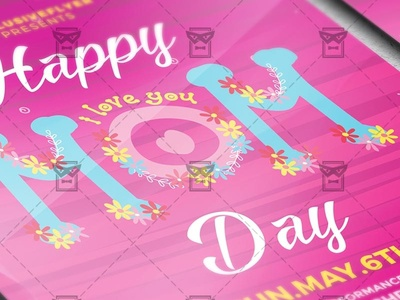 Happy Mom Day Seasonal A5 Flyer Template By Exclusive Flyer Dribbble