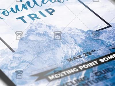 Mountains Trip - Seasonal A5 Flyer Template