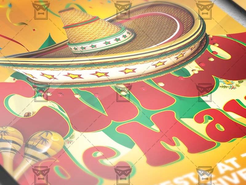 cinco de mayo flyer seasonal a5 template by exclusive flyer