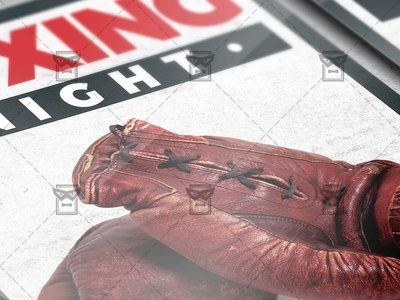 Boxing Night Flyer - Sport A5 Template