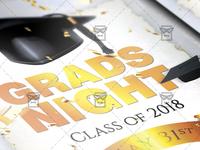 Grads Night Flyer - Seasonal A5 Template