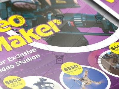 Videomaker - Business A5 Flyer Template
