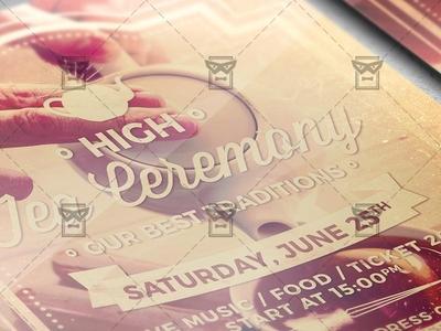 High Tea Ceremony Flyer - Community A5 Template