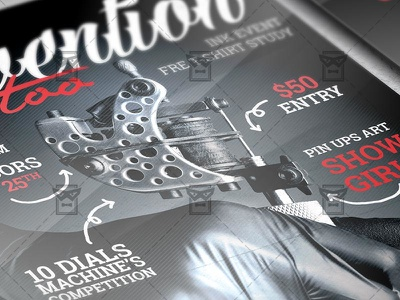 Tattoo Convention Flyer Club A5 Template By Exclusive Flyer On Dribbble