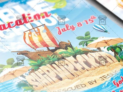 Vacation Bible School Church A5 Flyer Template By Exclusive Flyer