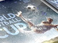 World Football Cup Flyer - Sport A5 Template