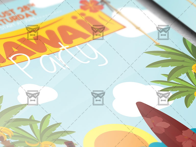 hawaii night flyer seasonal a5 template by exclusive flyer