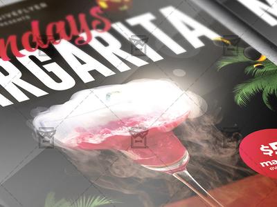 Margarita Mondays Flyer - Club A5 Template