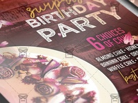 Surprise Birthday Party Flyer - Club A5 Template