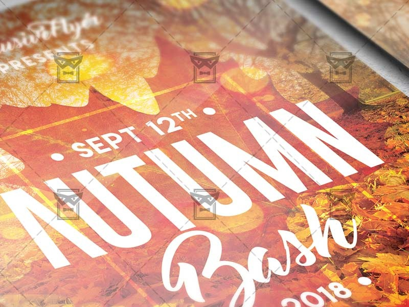 autumn bash flyer seasonal a5 template by exclusive flyer