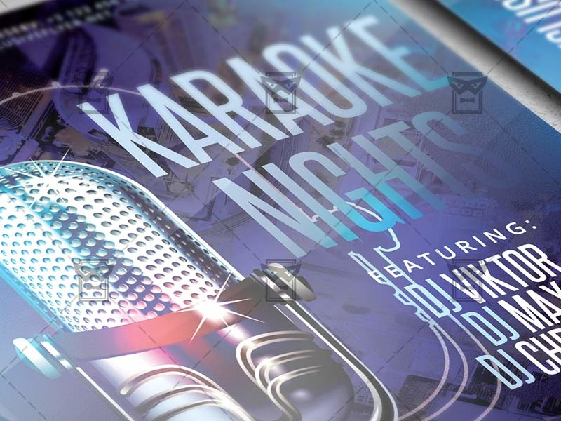 karaoke nights flyer club a5 template by exclusive flyer