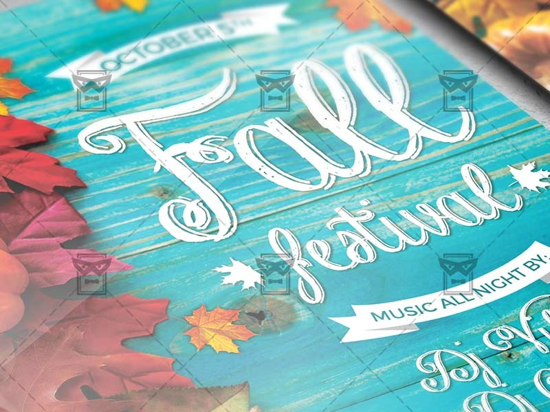 fall festival flyer seasonal a5 template by exclusive flyer
