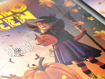 Kids Halloween Flyer - Seasonal A5 Template