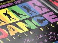 Dance Battle Night Flyer - Club A5 Template
