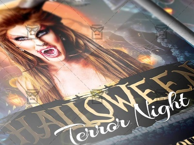Terror Night Flyer - Halloween A5 Template