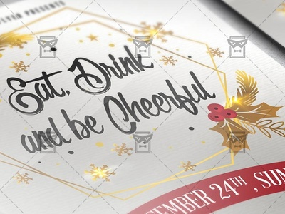 Eat Drink and be Cheerful Flyer - Seasonal A5 Template