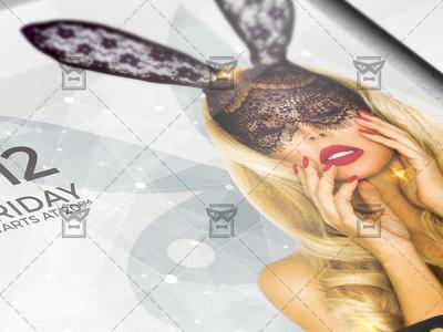 Playboy Night Flyer - Club A5 Template